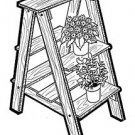 "Plant Ladder #704 -  "" ON SALE"" Woodworking / Craft Pattern"