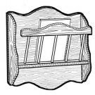 Wall Hanging Magazine Rack #181 - Woodworking / Craft Pattern