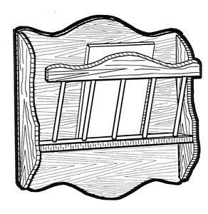 Wall Hanging Magazine Rack #181 - Woodworking / Craft Pattern