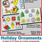 "Holiday Ornaments (21 Total) # 604-5-6, ""ON SALE"" Woodworking / Craft Pattern"