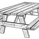 "Picnic One (table & benches)  #162 - ""ON SALE"" Woodworking / Craft Patterns"