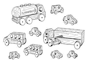 "Mini Vehicles # 219 - ""ON SALE"" Woodworking / Craft Patterns"