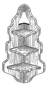 "Corner Shelf #158 - ""ON SALE"" Woodworking / Craft Pattern"