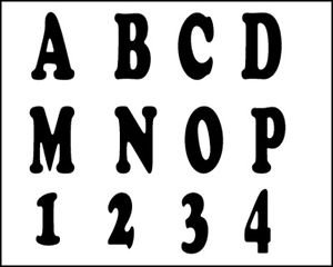 TRACEABLE ALPHABET #115-  Woodworking / Craft Pattern