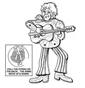 "Guitar Man Jumpin' Jack #902 - ""ON SALE"" Woodworking / Craft Pattern"
