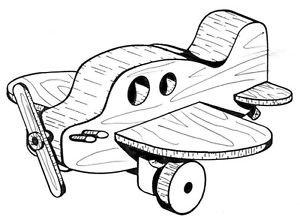 Prop Plane #207 - Woodworking / Craft Pattern