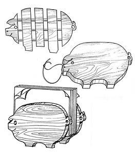 """Piglet Set Kitchen Helpers #306 - """"ON SALE"""" Woodworking / Craft Pattern"""