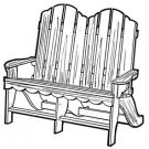 Love Seat Chair #168 - Woodworking / Craft Patterns
