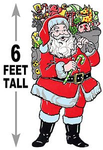 "6 foot Giant Santa #620 - ""ON SALE"" Woodworking / Craft pattern"