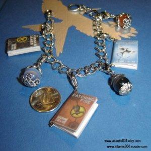 The Hunger Games Mini Book Charm Bracelet (eCrater)
