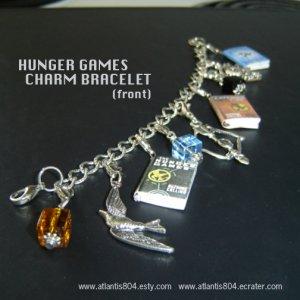 The Hunger Games Mini Book Super Charm Bracelet (ecrater)