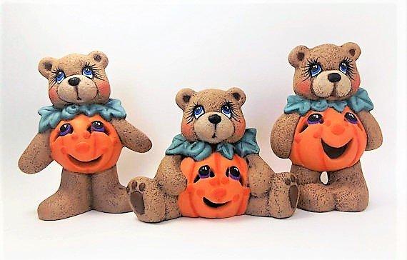 Ceramic Halloween Teddy Bears
