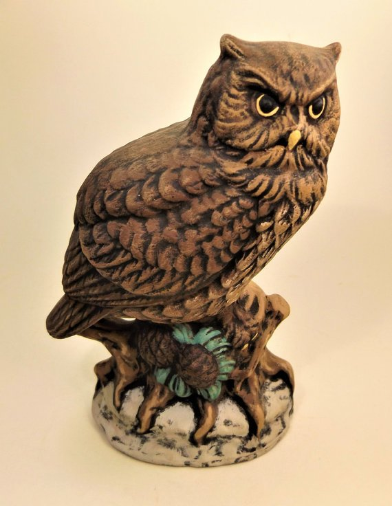 Ceramic Horned Owl