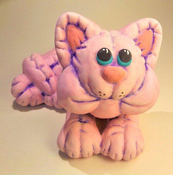 Pink Ceramic Cat