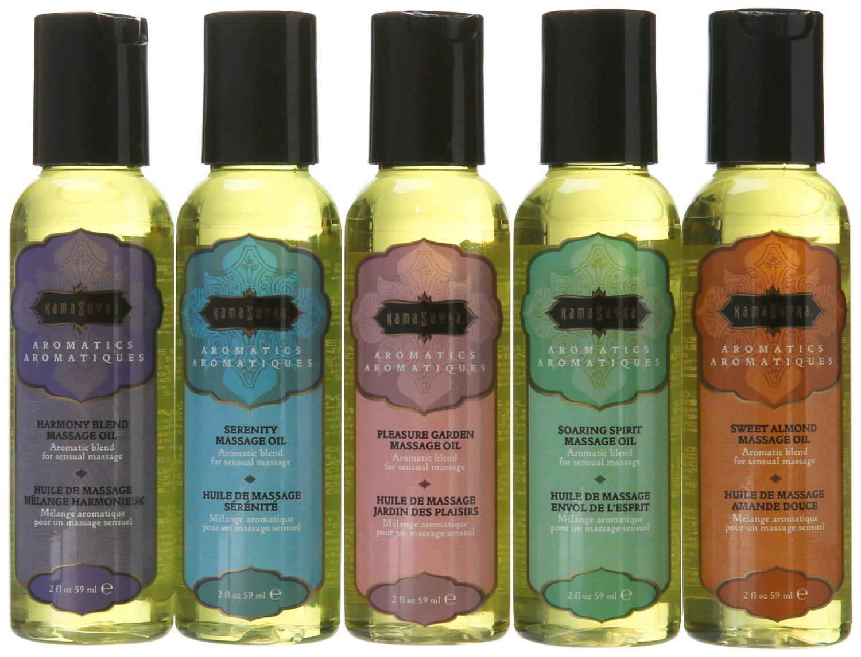 Kama Sutra Essential Oil Massage Tranquility Sampler Pack of 5x 2oz Bottles