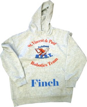 Hoodie Sweatshirt/ heather grey - small