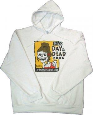 Hoodie Sweatshirt/ white - large