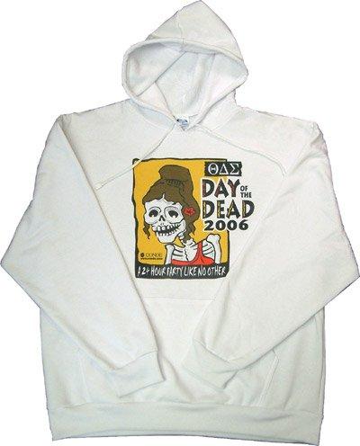Hoodie Sweatshirt/ white - extra large