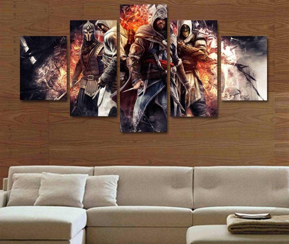 Assassin's Creed #08 5 pcs Unframed Canvas Print - Medium Size