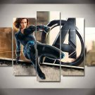Black Widow Natasha Romanova Marvel Avengers #03 5 pcs Unframed Canvas Print - Medium Size