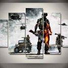 Battlefield #02 5 pcs Unframed Canvas Print - Medium Size
