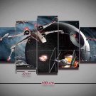 Star Wars X-Wing TIE Fighter #07 5 pcs Unframed Canvas Print - Medium Size