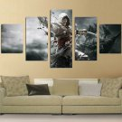 Assassin's Creed IV: Black Flag #03 5 pcs Framed Canvas Print - Large Size
