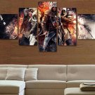 Assassin's Creed #08 5 pcs Framed Canvas Print - Medium Size