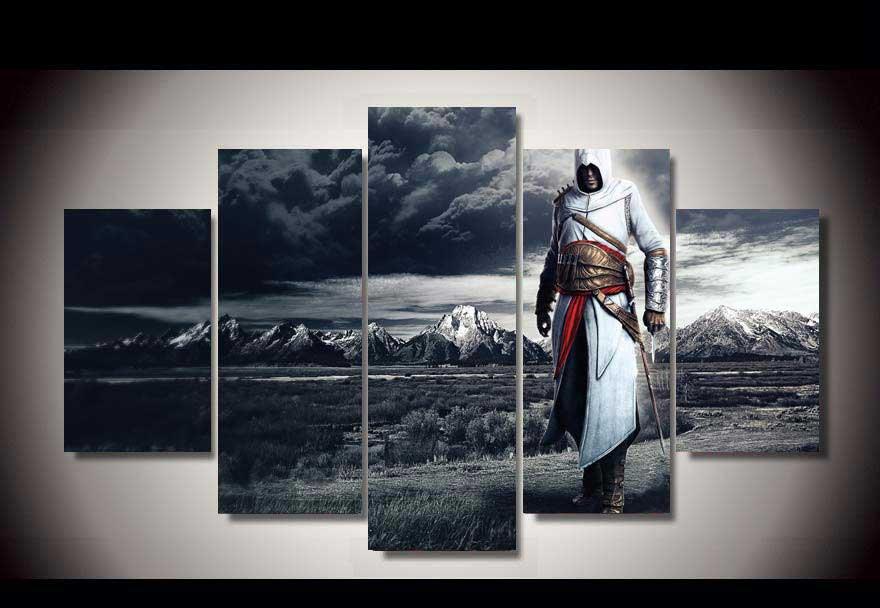 Assassin's Creed #09 5 pcs Framed Canvas Print - Medium Size