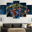 Marvel Avengers Superhero #01 5 pcs Framed Canvas Print - Small Size