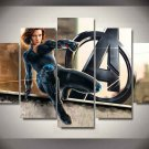 Black Widow Natasha Romanova Marvel Avengers #03 5 pcs Framed Canvas Print - Medium Size