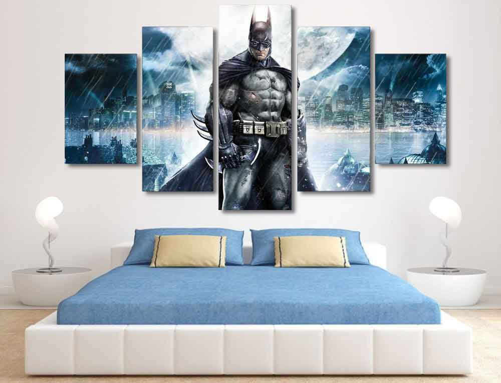 Batman Dark Knight #01 5 pcs Framed Canvas Print - Small Size