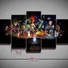 Star Wars All Character #02 5 pcs Framed Canvas Print - Medium Size