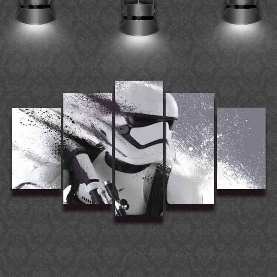 Star Wars Stormtrooper #03 5 pcs Framed Canvas Print - Large Size