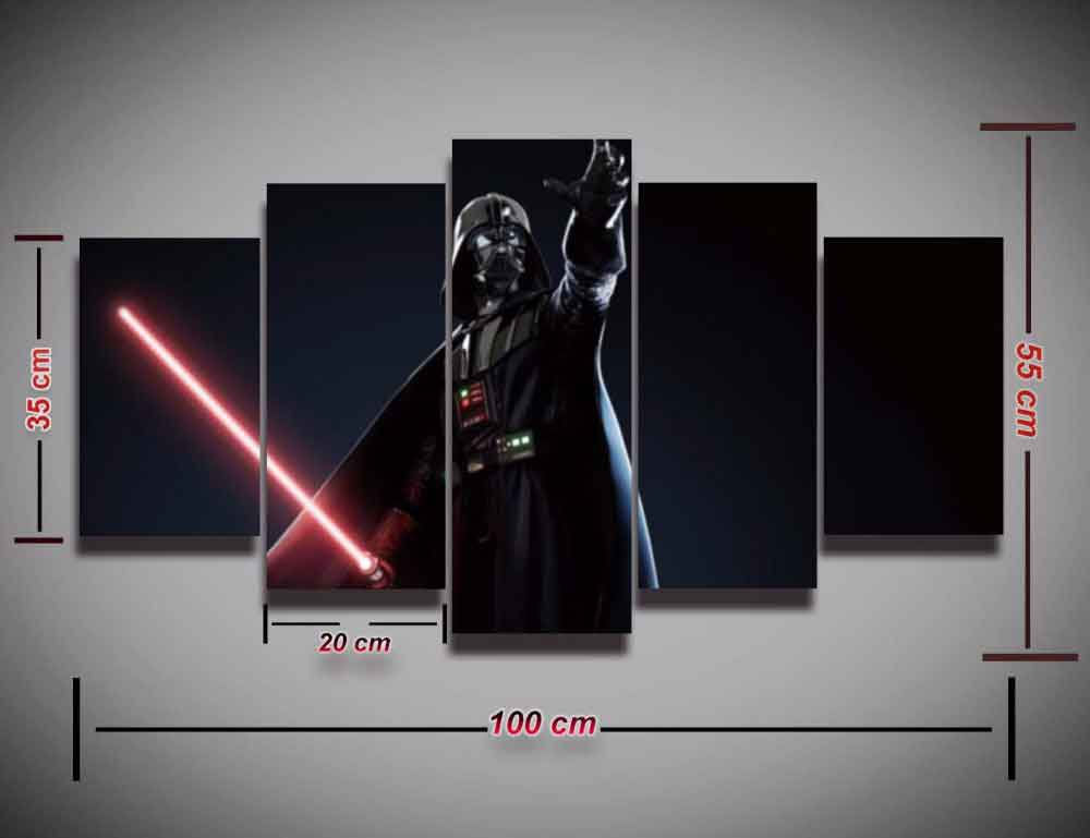Star Wars Darth Vader #04 5 pcs Framed Canvas Print - Large Size