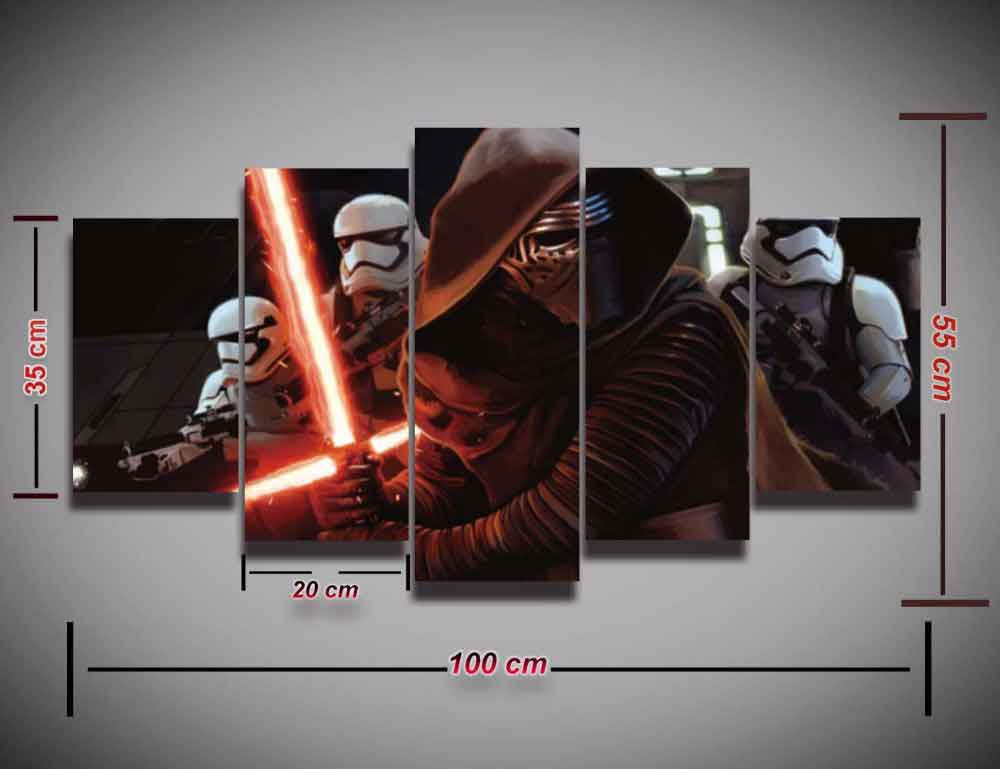 Kylo Ren Star Wars #05 5 pcs Framed Canvas Print - Small Size