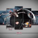 Star Wars X-Wing TIE Fighter #07 5 pcs Framed Canvas Print - Medium Size