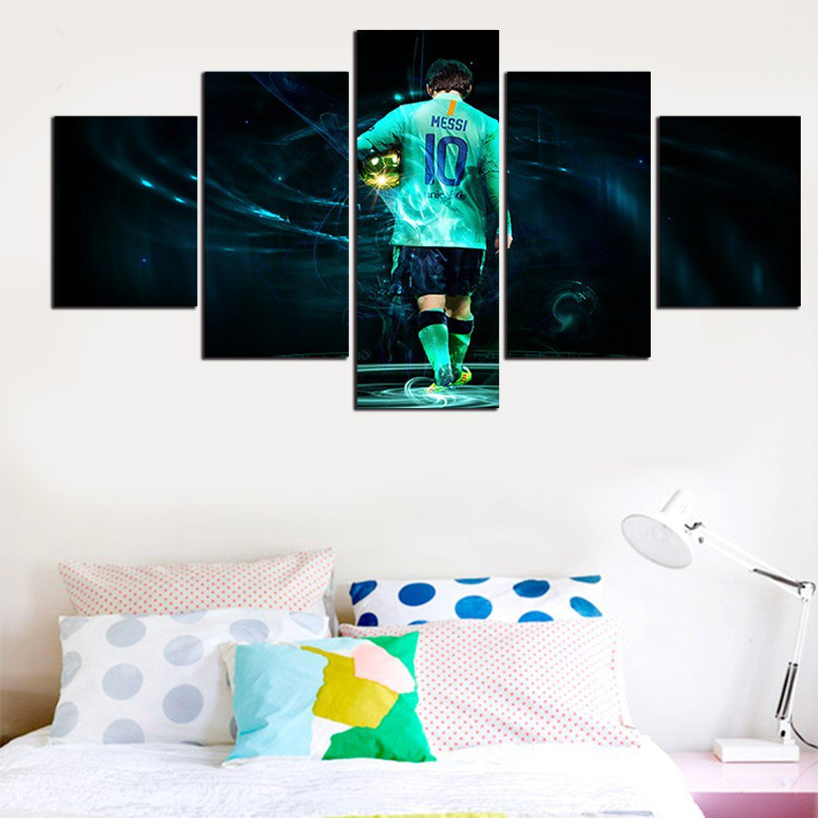Barcelona Lionel Messi 10 #01 5 pcs Framed Canvas Print - Small Size