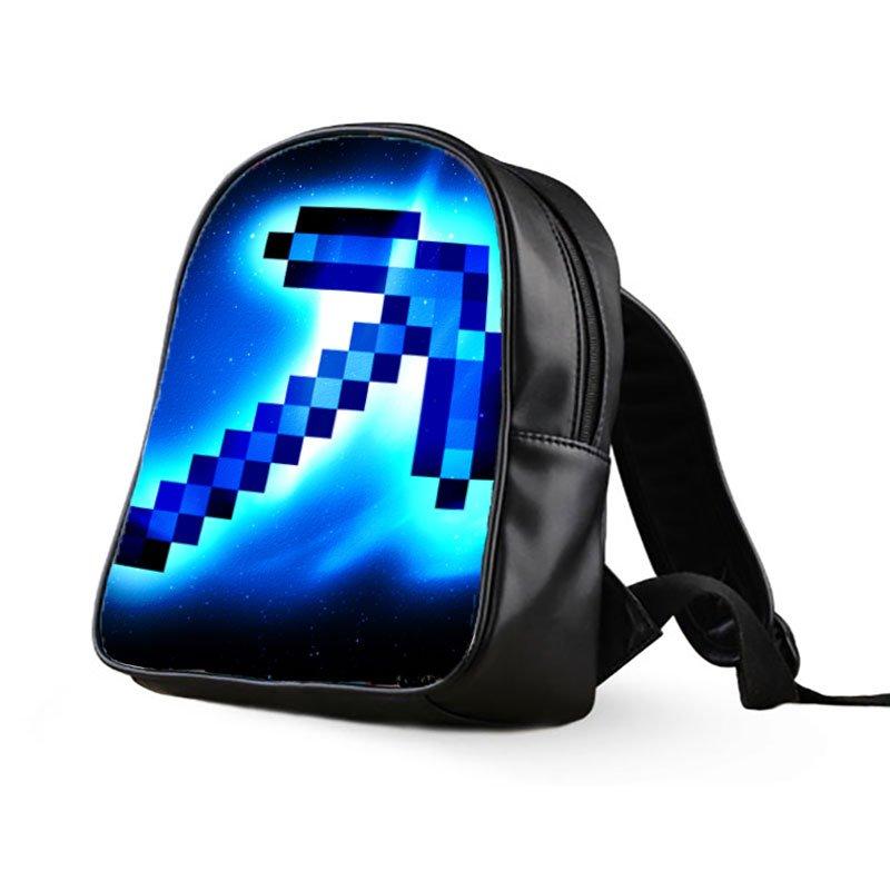 #10 Minecraft Creeper Kids Multi-Pocket School Bag Backpack