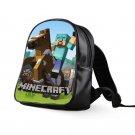 #43 Diamond Steve Minecraft Creeper Kids Multi-Pocket School Bag Backpack