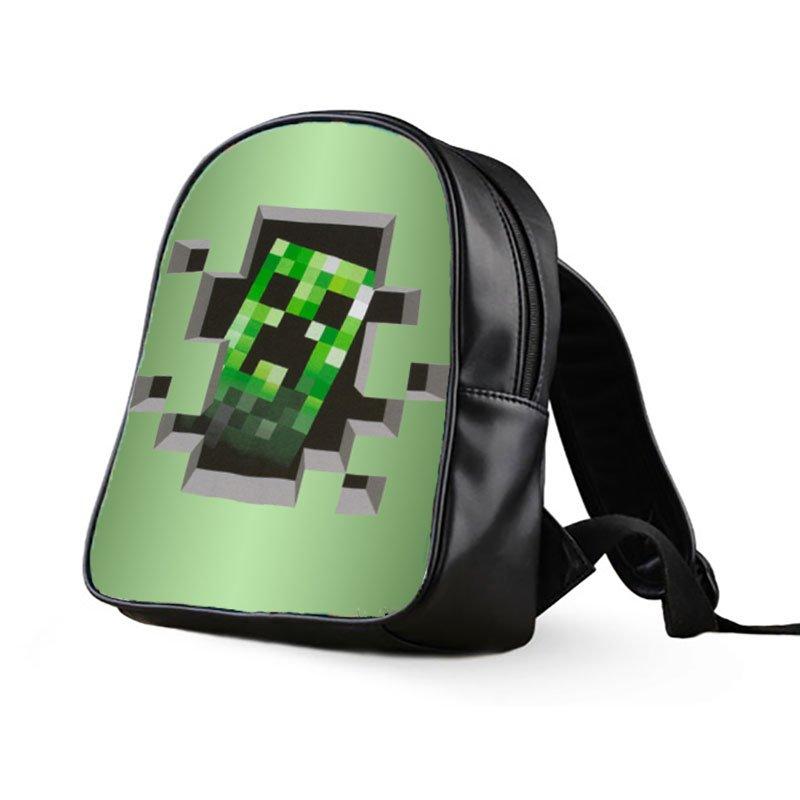 #65 Minecraft Creeper Kids Multi-Pocket School Bag Backpack
