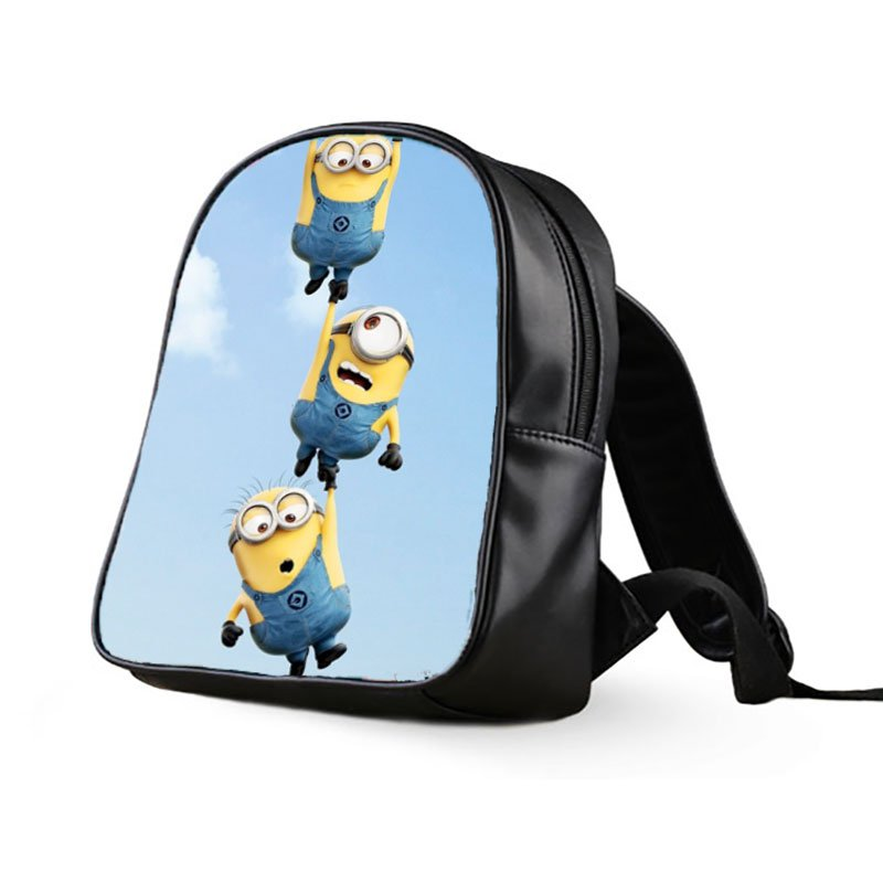 #01 Minions Despicable Me Kids Multi-Pocket School Bag Backpack