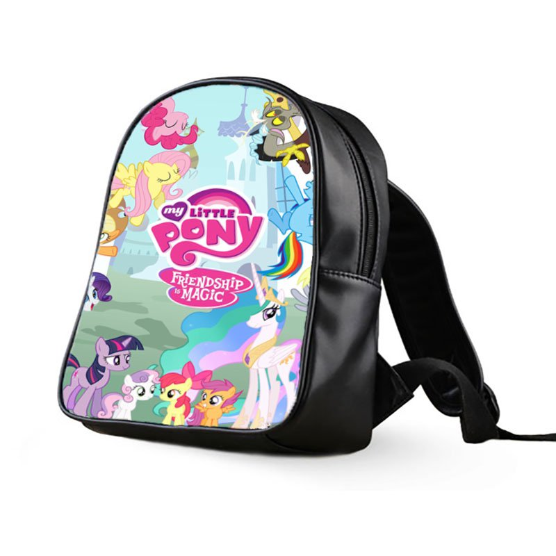 #03 My Little Pony Kids Multi-Pocket School Bag Backpack