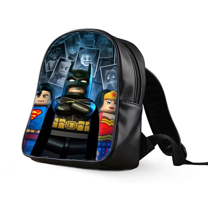 #04 Lego Batman Kids Multi-Pocket School Bag Backpack