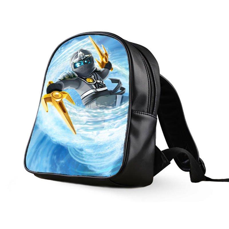 #01 Zane Lego Ninjago Kids Multi-Pocket School Bag Backpack
