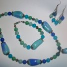 Blue Chalcedony Jewelry Set