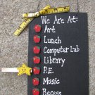Teacher Gifts 2709A - We are At : Blackboard with Apples