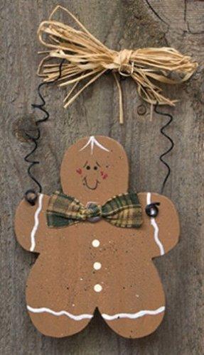 D0035CWC - Gingerbread Man Ornament wood