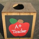 2711AP A Plus Apple TIssue Box Wood