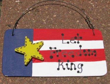 10977LFR - Let Freedom Ring Wood Sign